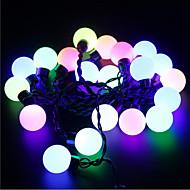 abordables Tiras de Luces LED-5m 20 LEDs navidad de halloween luces decorativas tira luces festivas-grandes bolas de luz de color rosa claro (220v)