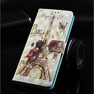 Недорогие Кейсы для iPhone 8-Кейс для Назначение Apple iPhone XR / iPhone XS Max Кошелек / Бумажник для карт / со стендом Чехол Эйфелева башня Твердый Кожа PU для iPhone XS / iPhone XR / iPhone XS Max