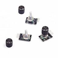 cheap -3Pcs  Rotary Encoder Module with  Knob Cap for Arduino