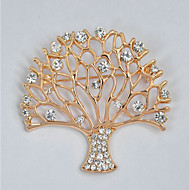 cheap -Women's Hollow Out Brooches - Tree of Life Stylish, Classic Brooch Gold For Daily