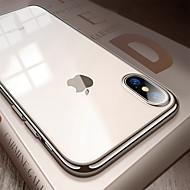 Недорогие Кейсы для iPhone 8-Кейс для Назначение Apple iPhone 8 / iPhone XS Max Покрытие / Ультратонкий / Полупрозрачный Кейс на заднюю панель Однотонный Мягкий ТПУ для iPhone XS / iPhone XR / iPhone XS Max