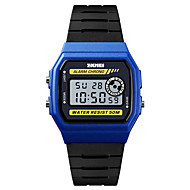 cheap -SKMEI Men's Sport Watch Military Watch Digital 50 m Alarm Calendar / date / day Chronograph PU Band Digital Casual Fashion Black - Blue Black / Yellow Black / Silver One Year Battery Life