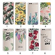 preiswerte Handyhüllen-Hülle Für Huawei P20 Pro / P20 lite Ultra dünn / Transparent Rückseite Pflanzen Weich TPU für Huawei P20 / Huawei P20 Pro / Huawei P20 lite