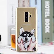 Недорогие Чехлы и кейсы для Galaxy S8-Кейс для Назначение SSamsung Galaxy S9 Plus / S9 Прозрачный / С узором Кейс на заднюю панель С собакой Мягкий ТПУ для S9 / S9 Plus / S8 Plus