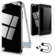Недорогие Кейсы для iPhone 8 Plus-Кейс для Назначение Apple iPhone 8 / iPhone 8 Plus IMD Кейс на заднюю панель Однотонный Твердый Закаленное стекло для iPhone X / iPhone 8 Pluss / iPhone 8
