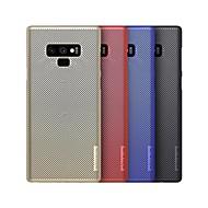 Недорогие Чехлы и кейсы для Galaxy Note-Кейс для Назначение SSamsung Galaxy Note 9 Защита от удара / Матовое Кейс на заднюю панель Однотонный Твердый ПК для Note 9