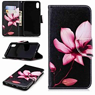 cheap -Case For Apple iPhone XR / iPhone XS Max Wallet / Card Holder / with Stand Full Body Cases Flower Hard PU Leather for iPhone XS / iPhone XR / iPhone XS Max