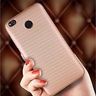 お買い得  携帯電話ケース-ケース 用途 Xiaomi Mi 8 / Mi 6X 超薄型 / つや消し バックカバー ソリッド ソフト カーボンファイバー のために Xiaomi Redmi Note 5 Pro / Xiaomi Redmi Note 4 / Xiaomi Redmi Note 3