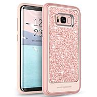 Недорогие Чехлы и кейсы для Galaxy S8 Plus-Кейс для Назначение SSamsung Galaxy S8 Plus Прозрачный / С узором / Сияние и блеск Кейс на заднюю панель Однотонный Мягкий ТПУ / ПК для S8 Plus