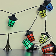cheap -2.5m String Lights 10 LEDs Multi Color New Design / Decorative / Cool AA Batteries Powered