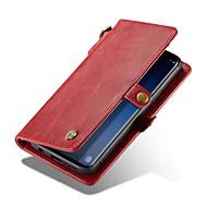 Недорогие Чехлы и кейсы для Galaxy S8-Кейс для Назначение SSamsung Galaxy S9 Plus / S9 Кошелек / Бумажник для карт Чехол Однотонный Твердый Кожа PU для S9 / S9 Plus / S8 Plus