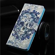 お買い得  携帯電話ケース-ケース 用途 Nokia Nokia 5.1 / Nokia 3.1 ウォレット / カードホルダー / スタンド付き フルボディーケース スカル ハード PUレザー のために Nokia 5.1 / Nokia 3.1 / Nokia 2.1
