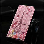 Недорогие Кейсы для iPhone 8 Plus-Кейс для Назначение Apple iPhone XR / iPhone XS Max Кошелек / Бумажник для карт / со стендом Чехол Бабочка / Эйфелева башня Твердый Кожа PU для iPhone XS / iPhone XR / iPhone XS Max