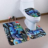 abordables Alfombras y moquetas-3 Piezas Modern Esteras de Baño Poliéster Elástico Tejido de 100g / m2 Animal Irregular Baño Nuevo diseño