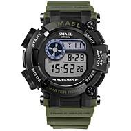 levne -SMAEL Pánské Sportovní hodinky Digitální hodinky japonština Digitální Černá / Tmavozelená 50 m Voděodolné Kalendář Chronograf Digitální Módní - Černá Tmavě zelená / Svítící