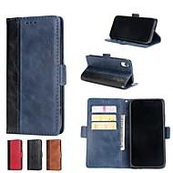 Недорогие Кейсы для iPhone 8-Кейс для Назначение Apple iPhone XR / iPhone XS Max Кошелек / Бумажник для карт / со стендом Чехол Однотонный Твердый Кожа PU для iPhone X / iPhone 8 Pluss / iPhone 8