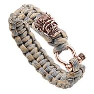 cheap -Men's Braided Loom Bracelet - Vintage, Punk Bracelet Gold / Silver / Rose Gold For Street Club