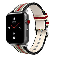 Watch Band for Apple Watch Series 4/3/2/1 Apple Classic Buckle Nylon / Genuine Leather Wrist Strap