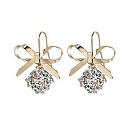 cheap -Women's AAA Cubic Zirconia Classic Drop Earrings - Bowknot Stylish, Classic Gold For Daily