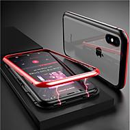 Недорогие Кейсы для iPhone 8-Кейс для Назначение Apple iPhone XR / iPhone XS Max Прозрачный / Магнитный Чехол Однотонный Твердый Закаленное стекло для iPhone XS / iPhone XR / iPhone XS Max