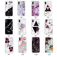 cheap iPhone 8 Cases-Case For Apple iPhone X / iPhone 8 IMD / Pattern Back Cover Marble Soft TPU for iPhone X / iPhone 8 Plus / iPhone 8