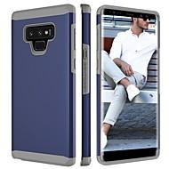 Недорогие Чехлы и кейсы для Galaxy Note-Кейс для Назначение SSamsung Galaxy Note 9 Защита от удара Кейс на заднюю панель Однотонный Твердый ПК для Note 9