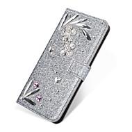 Недорогие Чехлы и кейсы для Galaxy S7-Кейс для Назначение SSamsung Galaxy S9 Plus / S8 Plus Кошелек / Бумажник для карт / Стразы Чехол Однотонный / Сияние и блеск / Стразы Твердый Кожа PU для S9 / S9 Plus / S8 Plus