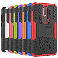 お買い得  携帯電話ケース-ケース 用途 Nokia Nokia 8 / Nokia 6 2018 耐衝撃 / スタンド付き バックカバー タイル柄 / 鎧 ハード PC のために Nokia 8 / Nokia 6 / Nokia 6 2018