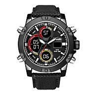 levne -SMAEL Pánské Sportovní hodinky Digitální hodinky japonština Japonské Quartz Nylon Černá / Hnědá 50 m Voděodolné Kalendář Chronograf Analog - Digitál Na běžné nošení Módní - Černá Černá / hnědá