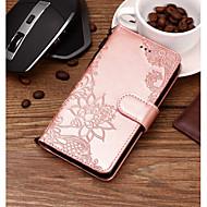 preiswerte Handyhüllen-Hülle Für LG V30 / Q6 Kreditkartenfächer / Geprägt / Muster Ganzkörper-Gehäuse Blume Hart PU-Leder für LG V35 / LG V30 / LG Q7