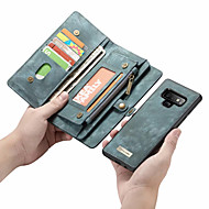 Недорогие Чехлы и кейсы для Galaxy Note-Кейс для Назначение SSamsung Galaxy Note 9 / Note 8 Кошелек / Бумажник для карт / Флип Чехол Однотонный Твердый Кожа PU для Note 9 / Note 8