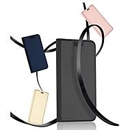 Недорогие Чехлы и кейсы для Galaxy Note-Кейс для Назначение SSamsung Galaxy Note 9 Бумажник для карт / со стендом / Флип Чехол Однотонный Твердый Кожа PU для Note 9