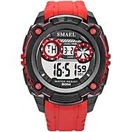 levne -SMAEL Pánské Sportovní hodinky Digitální hodinky japonština Digitální Silikon Černá / Červená 50 m Voděodolné Kalendář Svítící Digitální Módní - Černá Černá / červená