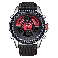 levne -SMAEL Pánské Sportovní hodinky Digitální hodinky japonština Japonské Quartz Nylon Černá 30 m Voděodolné Kalendář Chronograf Analog - Digitál Módní - Černá Černá / červená / Stopky / Svítící