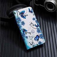 levne -Carcasă Pro Xiaomi Xiaomi Pocophone F1 / Xiaomi A2 lite Peněženka / Pouzdro na karty / se stojánkem Celý kryt Motýl Pevné PU kůže pro Xiaomi Redmi Note 5 Pro / Xiaomi Pocophone F1 / Xiaomi Redmi 6 Pro