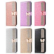 Недорогие Чехлы и кейсы для Galaxy Note 8-Кейс для Назначение SSamsung Galaxy Note 9 / Note 8 Кошелек / Бумажник для карт / Стразы Чехол Бабочка / Сияние и блеск / Стразы Твердый Кожа PU для Note 9 / Note 8