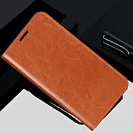 Carcasă Pro iPhone 5 / Apple iPhone XR / iPhone XS Max Peněženka / Pouzdro na karty / Flip Celý kryt Jednobarevné Pevné Pravá kůže pro iPhone XS / iPhone XR / iPhone XS Max