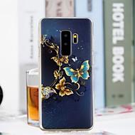 Недорогие Чехлы и кейсы для Galaxy S9 Plus-Кейс для Назначение SSamsung Galaxy S9 Plus / S9 Прозрачный / С узором Кейс на заднюю панель Бабочка Мягкий ТПУ для S9 / S9 Plus / S8 Plus