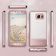 abordables Fundas / Carcasas para Galaxy Note-BENTOBEN Funda Para Samsung Galaxy Note 5 Cromado / Ultrafina / Brillante Funda Trasera Un Color Suave TPU / ordenador personal para Note 5
