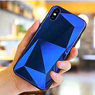Недорогие Кейсы для iPhone 8-Кейс для Назначение Apple iPhone X / iPhone 8 Защита от удара / Зеркальная поверхность Кейс на заднюю панель Геометрический рисунок Твердый Закаленное стекло для iPhone X / iPhone 8 Pluss / iPhone 8
