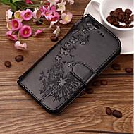 Недорогие Чехлы и кейсы для Huawei Honor-Кейс для Назначение Huawei Honor 10 / Honor 9 Lite Бумажник для карт / Рельефный / С узором Чехол одуванчик Твердый Кожа PU для Huawei Honor 10 / Honor 9 / Huawei Honor 9 Lite