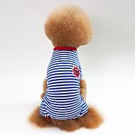 preiswerte Alles für Haushalt & Haustiere-Hunde / Katzen Pyjamas Hundekleidung Gestreift Rot / Blau / Schwarz Baumwolle Kostüm Für Haustiere Unisex Lässig / Alltäglich / Simple Style