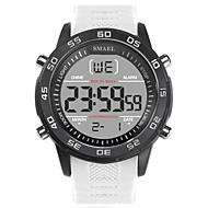 levne -SMAEL Pánské Sportovní hodinky Digitální hodinky japonština Digitální Silikon Černá / Bílá 50 m Voděodolné Kalendář Svítící Digitální Módní - Černá Černá / Bílá