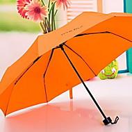 Недорогие Защита от дождя-Нержавеющая сталь Все Солнечный и дождливой Складные зонты
