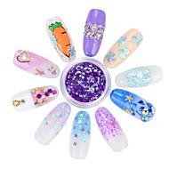 cheap -12pcs Mini Style Flower Series nail art Manicure Pedicure Pearl Geometric Daily