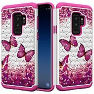 Недорогие Чехлы и кейсы для Galaxy S8-Кейс для Назначение SSamsung Galaxy S9 Plus / S8 Plus Защита от удара / Стразы / С узором Кейс на заднюю панель Бабочка / Стразы Твердый ПК для S9 / S9 Plus / S8 Plus