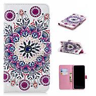 Недорогие Кейсы для iPhone 8-Кейс для Назначение Apple iPhone XS / iPhone XS Max Кошелек / Бумажник для карт / со стендом Чехол Мандала Твердый Кожа PU для iPhone XS / iPhone XR / iPhone XS Max