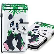 Недорогие Чехлы и кейсы для Galaxy S8-Кейс для Назначение SSamsung Galaxy S9 Plus / S9 Кошелек / Бумажник для карт / со стендом Чехол Панда Твердый Кожа PU для S9 / S9 Plus / S8 Plus