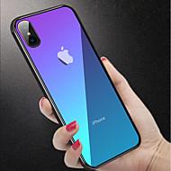 Недорогие Кейсы для iPhone 8-Кейс для Назначение Apple iPhone XR / iPhone XS Max Защита от удара / Полупрозрачный Кейс на заднюю панель Однотонный Твердый Закаленное стекло для iPhone XS / iPhone XR / iPhone XS Max
