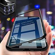 Недорогие Чехлы и кейсы для Galaxy S9 Plus-Кейс для Назначение SSamsung Galaxy S9 Plus / S9 Защита от удара / Магнитный Кейс на заднюю панель Однотонный Твердый Закаленное стекло для S9 / S9 Plus / S8 Plus
